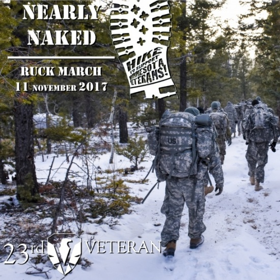 NEARLY NAKED RUCK MARCH - 23rd Veteran