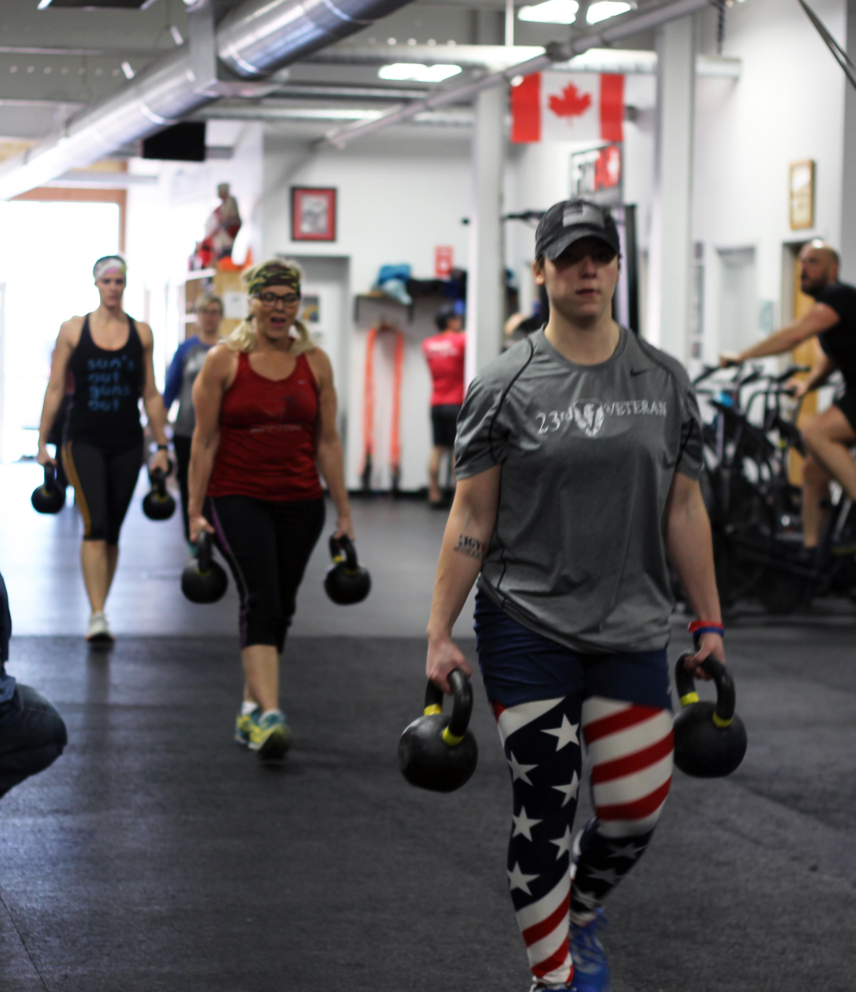 Nearly naked for veterans: Ruck march fundraiser comes