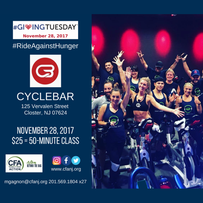 Center for Food Action's #RideAgainstHunger on #GivingTuesday