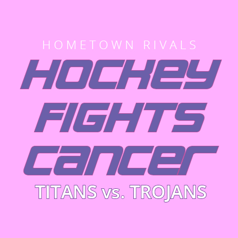 TC West vs. TC Central Hockey Fights Cancer Game Photo