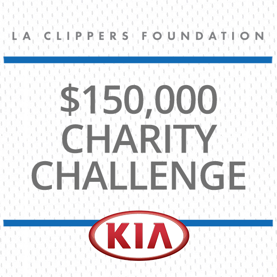 LA Clippers $150,000 Charity Challenge Presented by Kia - Click Here for the Official Rules Photo