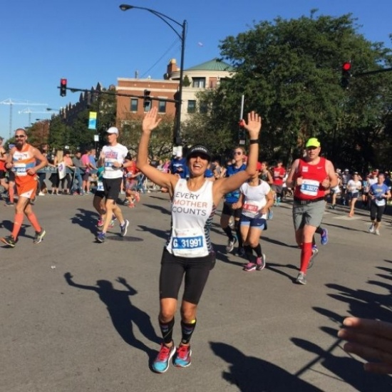 2018 Chicago Marathon Team Every Mother Counts Photo