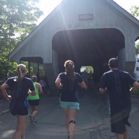 Team Positive Tracks at the 2018 Covered Bridges Half Marathon