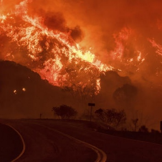 United Airlines Southern California Wildfire Relief Photo