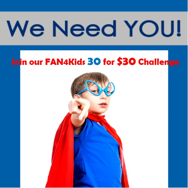 FAN4Kids 30 for $30 Year-End Challenge Photo